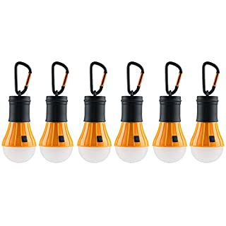 AceCamp 6 x Camping Led Lights Battery Powered + Carbine I Tent I Lamp I Lantern Light I Waterproof I 102863-ace