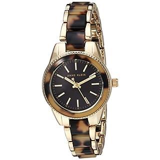Anne Klein Women's Gold Tone Steel Bracelet & Case Quartz Watch AK/3212TOGB