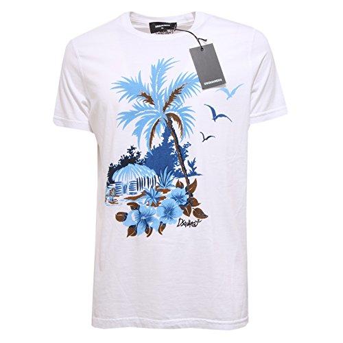 4837Q maglia uomo DSQUARED D2 bianco t-shirt men short sleeve [XL]