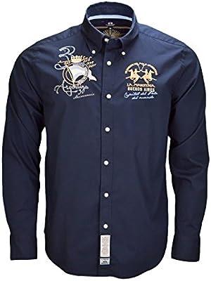 La Martina-Camisa La Martina Serapio azul marino para hombre