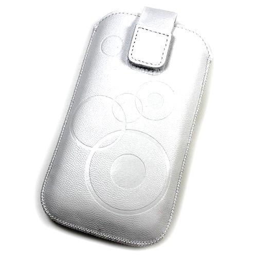 Schutzhülle, Weise Leder weiß L für Samsung Galaxy Star 2