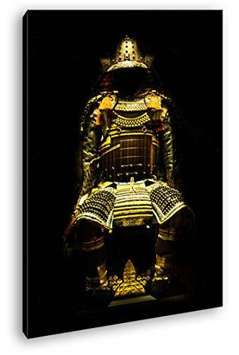 Dark goldene Samurai Rüstung Format: 120x80 als Leinwandbild, Motiv fertig gerahmt auf...