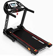 Fitalo Play T4 Pro (4.0 HP Peak) DC Motor Motorised Treadmill with Voice Broadcast, Speaker, MP3 & USB Inp