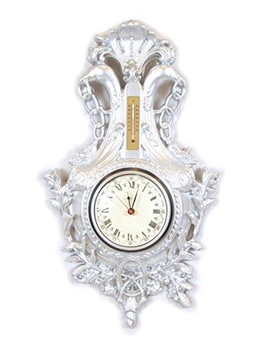 Uhr silber versilbert Wand Barock Möbel Fake Vintage Luigi XVI