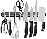 Best Cooking Knife Sets - Iktu 38cm Magnetic Knife Bar, Magnetic Knife Storage Review
