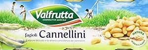 Valfrutta - Fagioli Cannellini - 400 Gr. (Confezione da 3)