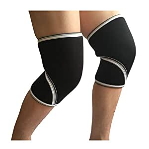 Generic NO LOGO, S : VPG-WL1409 free by fast shipping 9mm knee sleeve knee supports no logo for weightlifting, crossfit, powerlifting, gymnastics