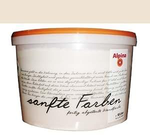 Alpina couleurs tendres 10 l., sable, prêt abgetönte peinture mat