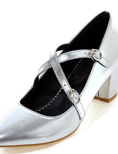 WSS 2016 Chaussures Femme-Habillé / Soirée & Evénement-Vert / Rose / Rouge / Argent / Or-Gros Talon-Talons / Bout Pointu-Talons-Similicuir golden-us8.5 / eu39 / uk6.5 / cn40