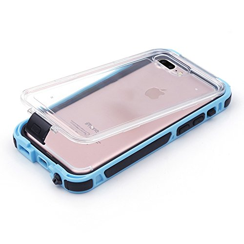 iProtect Apple iPhone 7 Plus Outdoor Case Schutzhülle Hartglas Shock- and Dirtproof in gelb Apple iPhone 7 Plus Case Wasserresistent Shockproof Blau