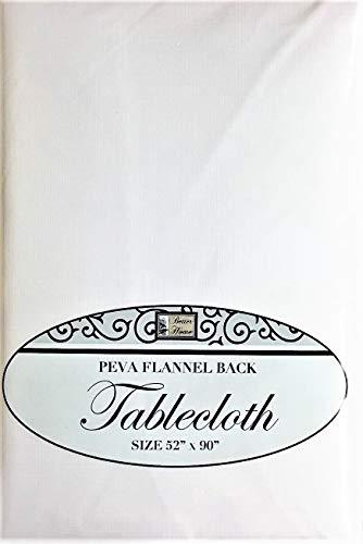 Küche Tischdecke PEVA Flanell Rückseite Multi Design & Farbe Auswahl 132,1x 228,6cm rechteckig, weiß, 52