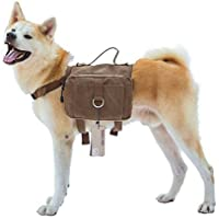 OneTigris Hunderucksack Reisen Camping Wandern Hundebackpack für mittelgroße & Large Hunde (Braun1)