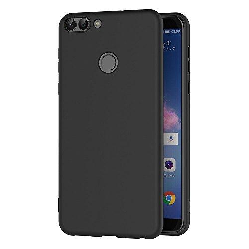 AICEK Huawei P Smart Hülle, Schwarz Silikon Schutzhülle für Huawei P Smart Case TPU Bumper Huawei P Smart Handyhülle (5,65 Zoll)