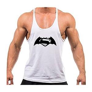 Volon Tanktop Herren Fitness Unterhemd Tankshirt Batman Tops Sport Shirt Trägershirt Sommer Männer Bodybuilding Oberteile Tank Gym Baumwolle MEHRWEG