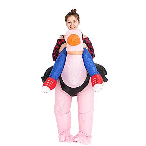 NiSeng Carry Me Aufblasbares Erwachsenen Anzug Fasching Cosplay Outfits Fancy Dress Party (Kostüm Strauß Halloween Aufblasbare)