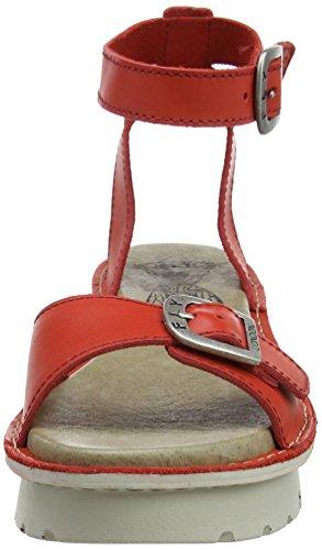 FLY London Kyra457, Sandales Compensées  Femme Rouge (Scarlet 003)