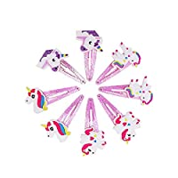 Canjerusof 4 Pairs Unicorn Trim Hair Clip Hairpins Children
