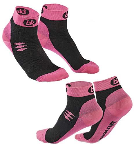 Bknees (2 paia calze a compressione graduata unisex, per yoga, calcio, corsa, sport, recupero, circolazione, infermieri, gravidanza, viaggi in aereo (20-30 mmhg)