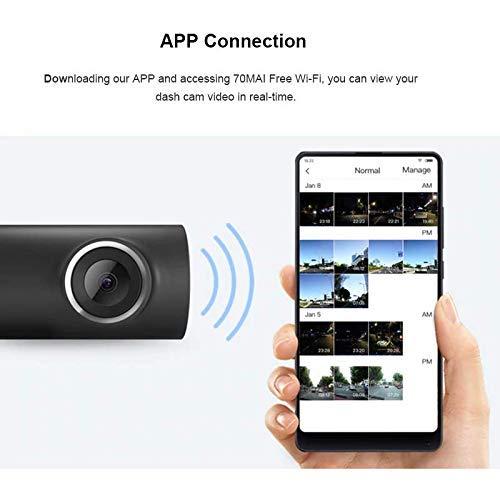 41WJzRQPEhL - 70mai Grabador de Conducción de Automóviles Cámara de Dash 1080 P Full HD Smart Car DVR Versión Nocturna 130 Grados FOV Camo Dash CAM G-Sensor Dashcam Control de Voz Inglés, Negro