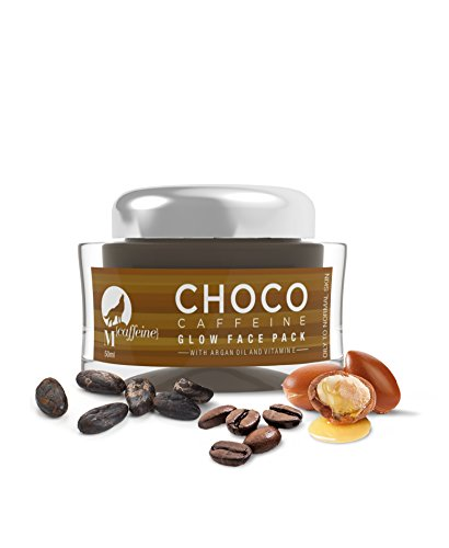 MCaffeine Choco Caffeine Glow Face Mask for Oily/Normal Skin, 50 ml with Argan Oil and Vitamin E - Paraben Free