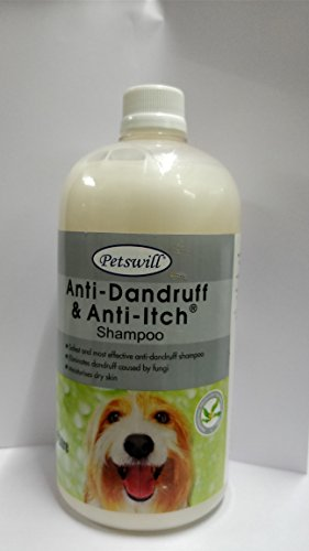 Petswill anti-Dandruff & Anti -Itch Shampoo 1 Litre ( Economical Pack)
