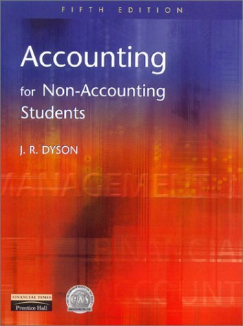 By J.R. Dyson Accounting for Non-accounting Students (5th Edition) [Paperback]