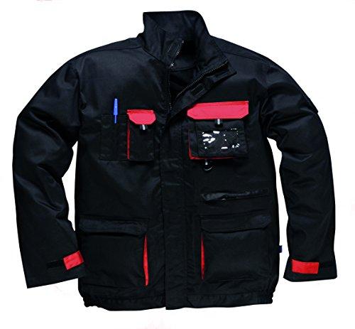 Portwest TX10–Kontrast Jacke, Farbe, Größe L (Baumwolle Farbe Kontrast)