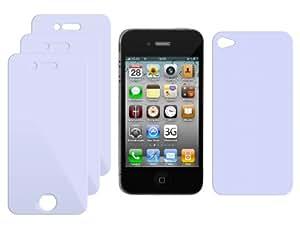 ORIGINAL iProtect iPhone 4 / 4S CrystalClear 3 x VORDERseite + 1 x RÜCKseite Displayschutz iPhone 4G unsichtbar! iPhone4 4 S Schutzfolie Schutzfolien Displayschutzfolie