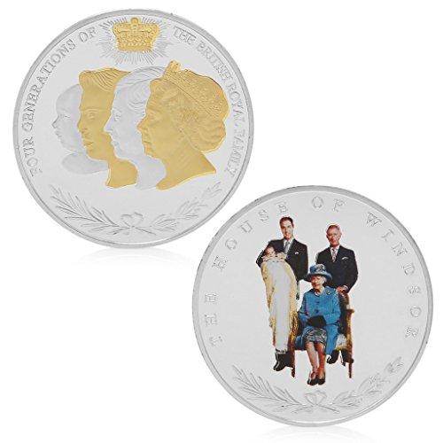 zijianZZJ Gedenkmünze, seltene Vier Generationen Britische Sammlung königlicher Gedenkmünzen