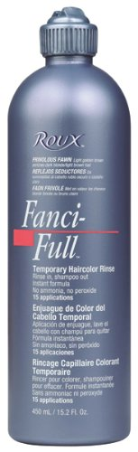 Roux Fanci-full Rinse (Roux Fanci-Full Temporary Hair Color Rinse - #12 - Black Rage 15 oz. (Pack of 6) by Roux)