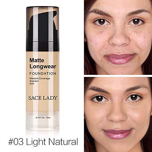 Allbesta Fondation Mat 15ml base de maquillage couverture moyenne couvrance radiant doux correcteur imperméable