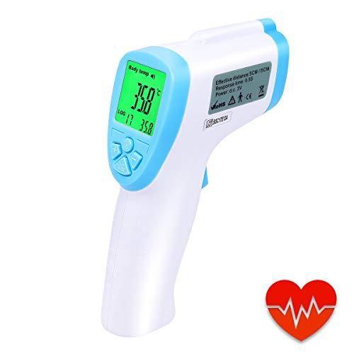 Front de et Thermomètre Numérique Médical,YUKICARE Thermomètre Infrarouge Professional Pour le Bébé, les Adultes et L'objet, Approuvé par la CE et la FDA