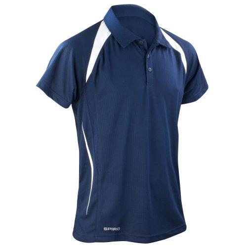 Spiro Herren Sport Polo-Shirt Team Spirit Performance Königsblau/Marineblau
