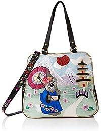 Irregular Choice Damen Blossom Bunny Bag Shopper, Mehrfarbig (Green/Red), 16x30x32 Centimeters