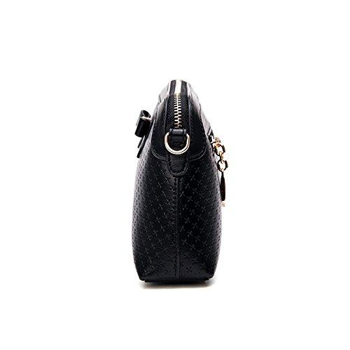Frauen Handtasche - Echtes Leder-Frauen Handtaschen Schulter Beutel Oberseiten Handgriff Tote Dame Mädchen Spielraum Beutel Schwarz