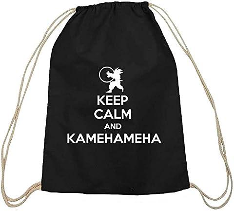 Serien natur Turnbeutel Keep Calm And Kamehameha, Größe: onesize,schwarz natur