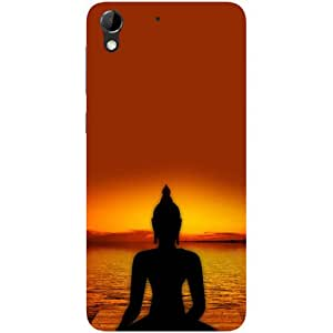Casotec Yoga Buddha Design Hard Back Case Cover for HTC Desire 728G