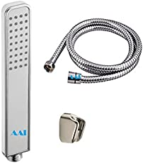 AAI Exclusive White Gold Hand Shower with Hose and Wall Bracket Complete Set