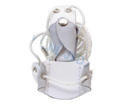Nouveau réglable Tir à l'arc Gompy Bow Stringer Membre Astuce BSP-1 Pour Arc Classique Blanc en cuir PU