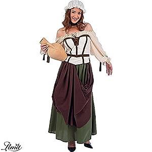 Limit Sport - Disfraz de tabernera medieval Azalea, para adultos, talla L (MA675)