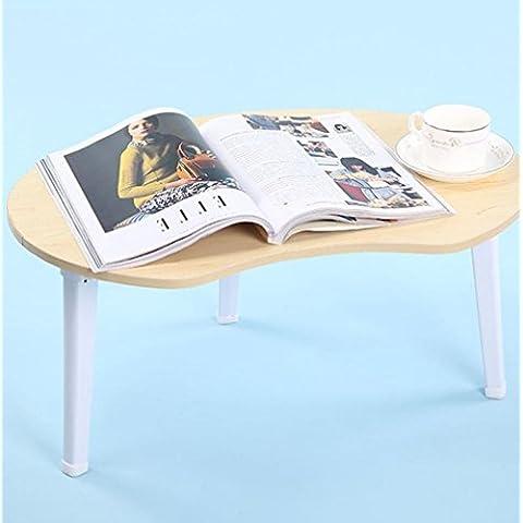 KHSKX Elegante, minimalista, letto pieghevole scrivania portatile, impermeabile alla reception uomo pigro , Maple color