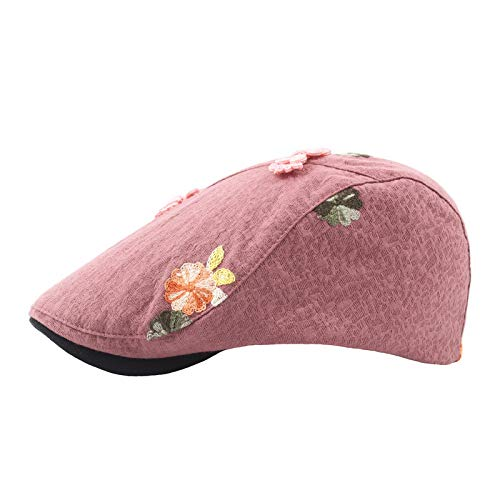 er Im FreienSonnenhut StrickenGestickteBarett Weibliche Maler Newboy Cap Manuelle Nagel Bead Flower Hat ()