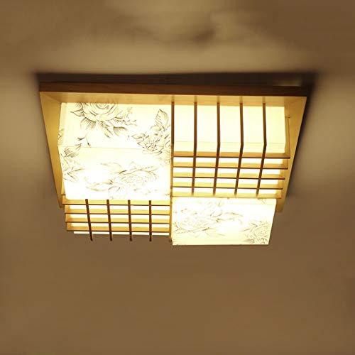 YGH Japanische Deckenleuchte, Modern Minimalist Tatami Deckenlamp Muster Acryl LED Deckenleuchten, Esszimmer Wohnzimmer Schlafzimmer Innenbeleuchtung -