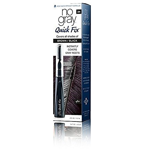 No Gray Quick Fix Instant Touch-Up for Gray Roots (Set of 1, Brown/Black) by Developlus Inc.