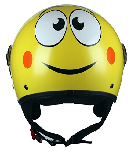 BHR 07799 Casco Moto Demi-Jet Modelo 801 con Linea One, Smile , S