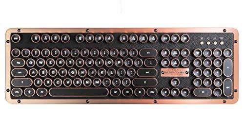 Azio Retro Classic Artisan Teclado Bluetooth Mecánico
