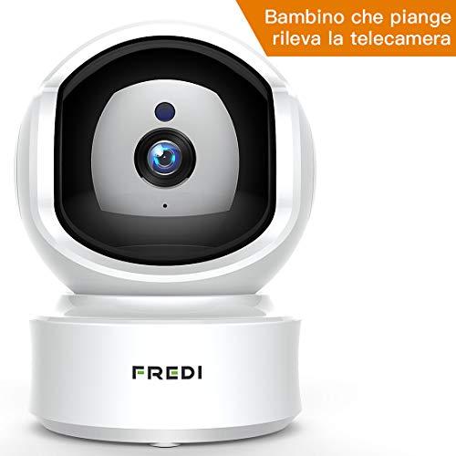 Foto FREDI 1080P HD Telecamera Sorveglianza Wi fi Videocamera sorveglianza...