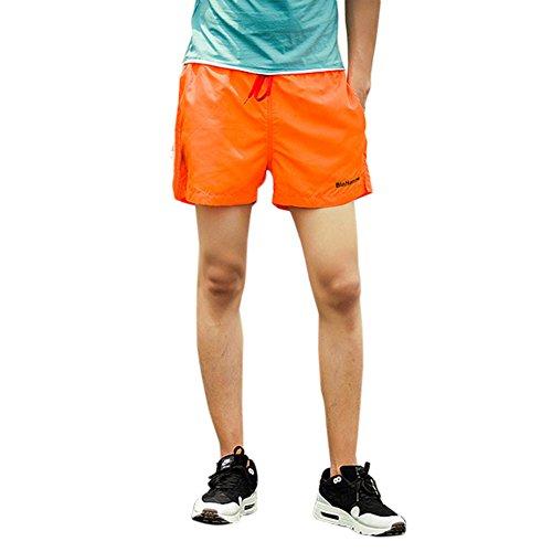 Yalatan Men's Fashion Slim Zipper Shirts Turn-down Collar Long Sleeve Blouse Casual Dress Shirts S-2XL Orange