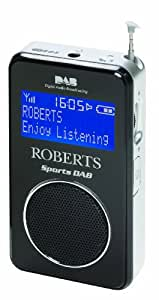 Roberts Radio Sports DAB/FM RDS Personal Digital Radio with Loudspeaker - Black