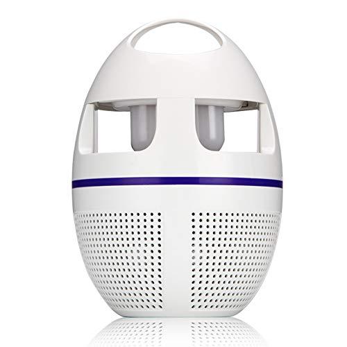 XMAGG Lampada Antizanzare, USB Elettrico Zanzara Assassino con Luce UV e Ventilatore, Fisico Puro Insetticida Zanzara, Non-tossico per Casa Ufficio